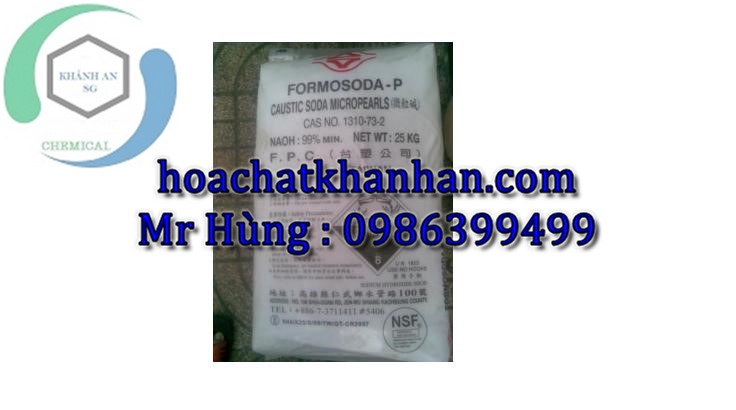 NaOH - Cautic soda Flakes 98% - Đài Loan