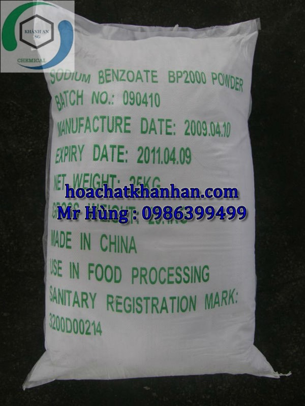 Sodium Benzoate BP 98% - Natri Benzoat - C6H5COONa